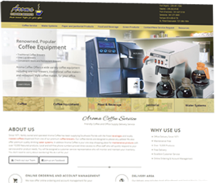 Aroma Coffee website slide