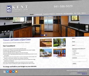 Kent Construction website slide