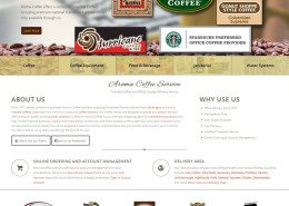 Aroma Coffee Website Index Page