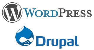 Wordpress and Drupal Logo